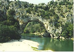 none  Pont d'Arc over Ardèche.