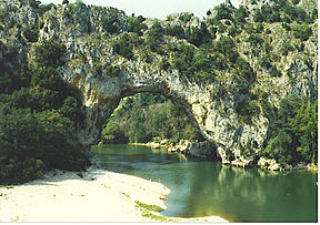 Pont d'Arc over Ardèche.