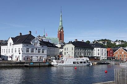 Hvordan komme seg til Arendal med offentlig transport - Om stedet