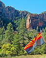 Arizona Flag in Slide Rock Park 9-15 (21963280392).jpg