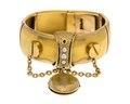 Armband av guld med medaljong, 1860-tal - Hallwylska museet - 110143.tif