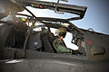 Army Air Corps Pilot in the Cockpit of an Apache Helicopter MOD 45153321.jpg