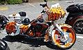 Art Harley-Davidson motorcycle McDonald's restaurant Railroad Street downtown Saint Johnsbury VT June 2016.jpg
