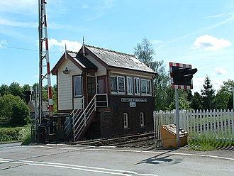 Ascott-under-Wychwood - Ascott-under-Wychwood signal box, near Ascott d'Oyley