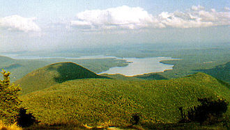 Catskill Park - The Ashokan Reservoir as seen from Wittenberg Mountain.