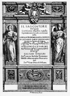 <i>The Assayer</i> book by Galileo Galilei