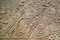 Assyrian soldiers capture an Egyptian town, North Palace, Nineveh, Iraq, 645-640 BCE (detail).jpg