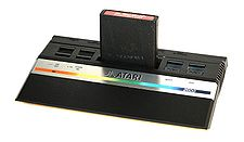 """The Atari 2600 in its 1986 cost-reduced version, also known as the """"2600 Jr."""""""