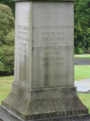 George H. Atkinson - Gravemarker