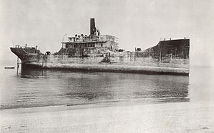 SS Atlantus - SS Atlantus the day she ran aground, 8 June 1926