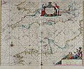 Atlas maritimus, or A book of charts - Describeing the sea coasts capes headlands sands shoals rocks and dangers the bayes roads harbors rivers and ports, in most of the knowne parts of the world. (14753442315).jpg