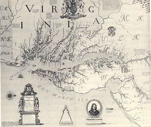 Augustine Herman - Herman's 1670 map of Maryland and Virginia