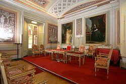 Aula Foscoliana, intitolata al poeta Ugo Foscolo, che qui fu docente di eloquenza italiana e latina