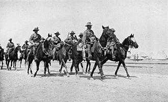 Battle of Bir el Abd - Australian light horse patrol in Egypt