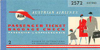 Airline ticket entrance ticket