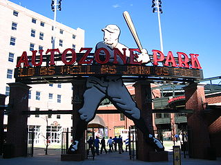 AutoZone Park baseball stadium in Memphis, Tennessee, USA
