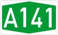 Autokinetodromos A141 number.png