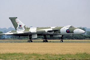 Wellesbourne Mountford Airfield - Avro Vulcan XM655 is located at the airfleld.
