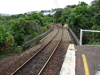 Awarua Street railway station - Rail overbridge at the southern end of the station