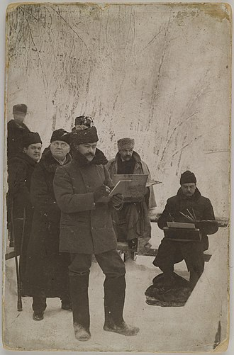 1893 in art - Axel Gallén, Louis Sparre and Albert Edelfelt painting at Imatra, 1893