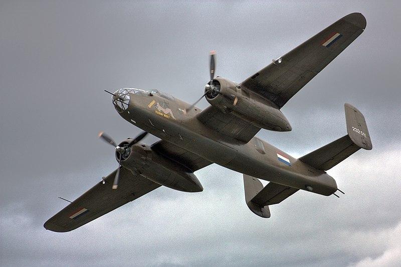 Mitchell B-25, avión bombardero.