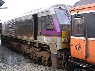 IE 201 Class - Iarnród Éireann No.206 (Abhainn na Life/River Liffey) at Limerick Colbert Station in 2006