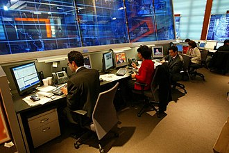 U.S. Agency for Global Media - Newsroom at the Middle East Broadcasting Networks, Inc., a BBG grantee
