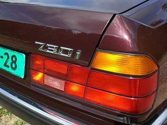 BMW 7 Series (E32) - L-shaped tail-lights