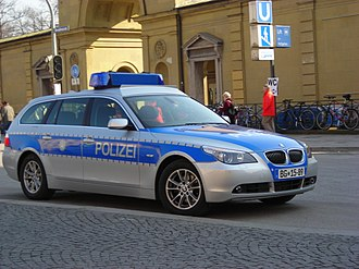 Federal Police (Germany) - BMW standard patrol car
