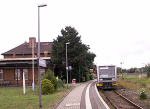 Berga-Kelbra station - Thyraliesel service in Berga-Kelbra