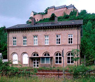 Alsenz Valley Railway - Ebernburg station below the Ebernburg