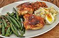 Baked chicken with sesame garlic green beans (19267262715).jpg