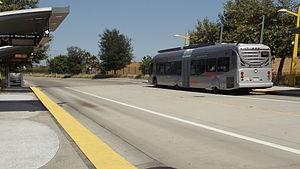 Orange Line (Los Angeles Metro) - Metro Orange Line departing Balboa Station to North Hollywood
