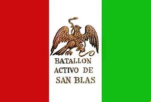 Batallón de San Blas - Image: Bandera batallon snblas
