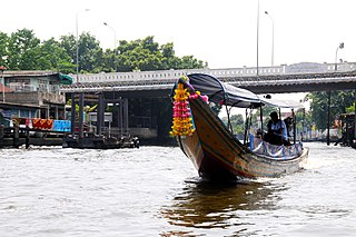Khlong Bangkok Yai canal in Bangkok, Thailand