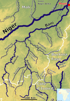 The river system of the Bani