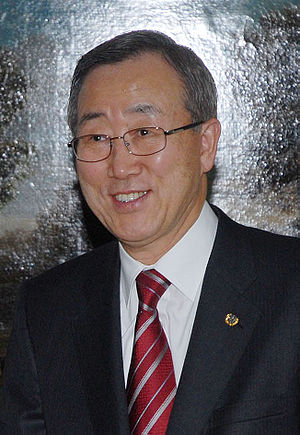United Nations Secretary-General selection, 2006 - Ban Ki-moon was elected Secretary-General in October 2006.