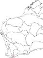 Banksia sphaerocarpa var. latifolia map.png