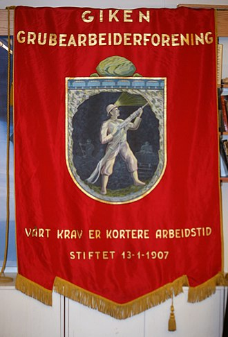 Sulitjelma - Banner for Sulitjelma Labourers