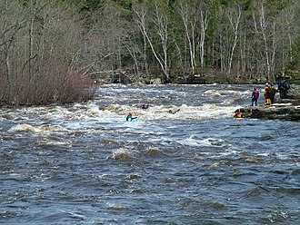 Kettle River (St. Croix River) - Kayakers on the Kettle River in Banning State Park