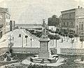 Bari Piazza della prefettura e monumento a Nicolò Piccinni xilografia di Barberis 1898.jpg