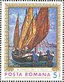 Barks in Venice by Nicolae Dărăscu 1971 Romanian stamp.jpg
