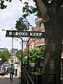 Barons Keep sign, Gliddon Road W14 - geograph.org.uk - 1288263.jpg