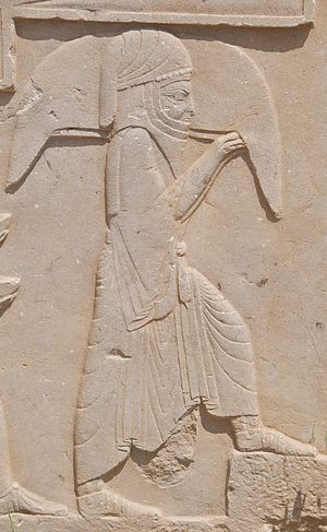 Waterskin - Image: Bas Relief of Tribute Bearer, Persepolis, Iran (4693775791)