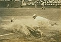 Baseball player sliding into third base at a St. Louis Terriers (Federal League) game.jpg