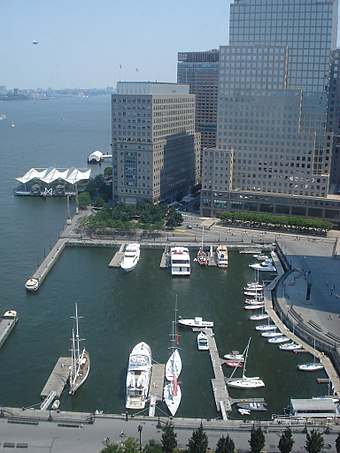 Yacht harbor at North Cove, next to the World Financial Center Battery Park City North Cove.jpg