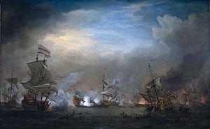 Battle of Texel - The Battle of Texel (1707) by Willem van de Velde the Younger