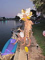 Bayou St John 4th of July NOLA 2012 King Kolossos at Dusk.JPG