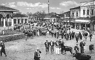 Tirana - The Bazaar at the turn of the 20th century.