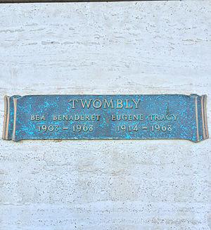 Bea Benaderet - Crypt of Bea Benaderet at Valhalla Memorial Park